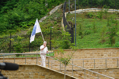 Внесение флага в честь открытия Конгресса